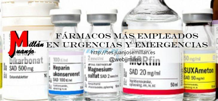 Fármacos más empleados en urgencias y emergencias